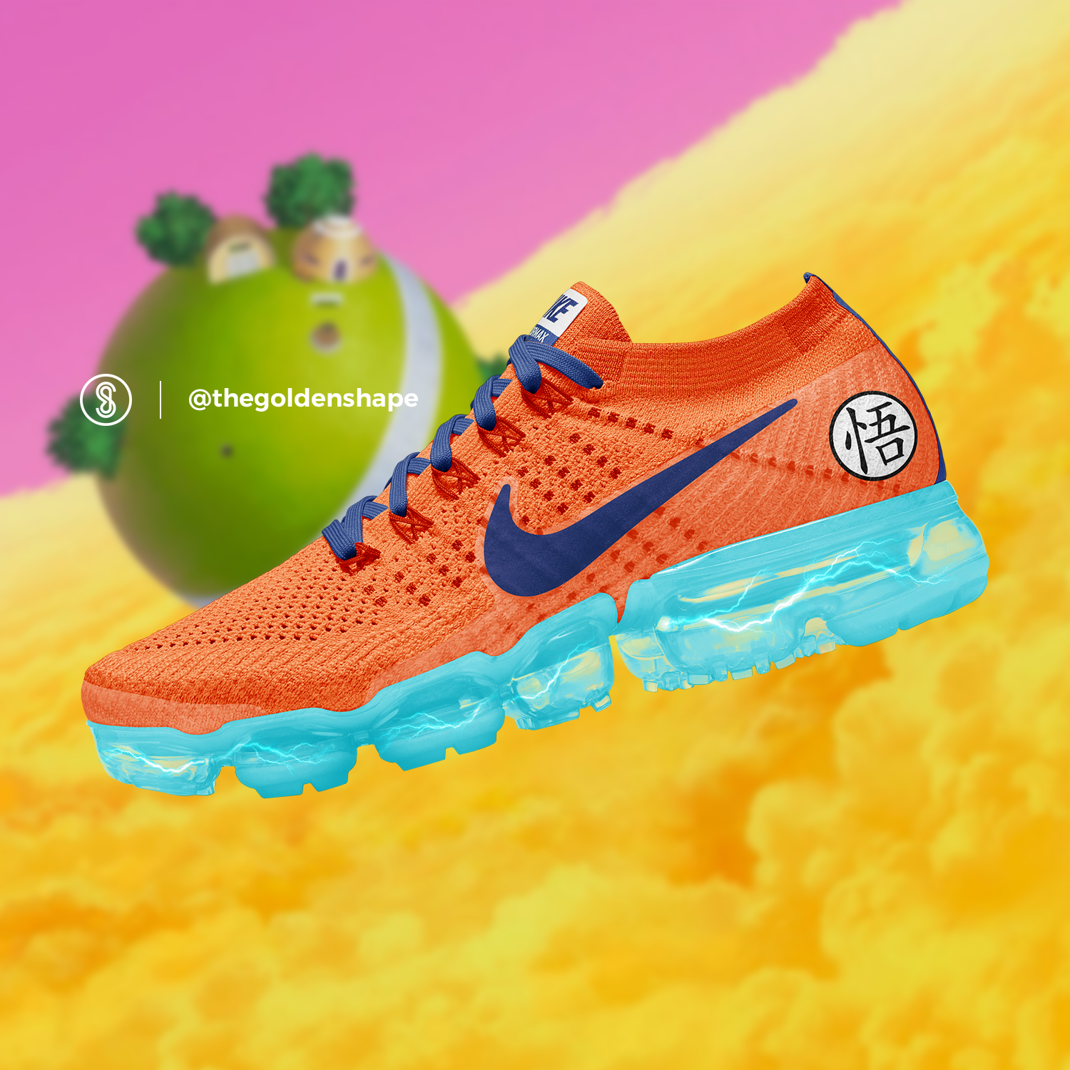 eb98cddc8a7b5 Nike x Dragon Ball Super VaporMax Son Goku Super Saiyan Blue