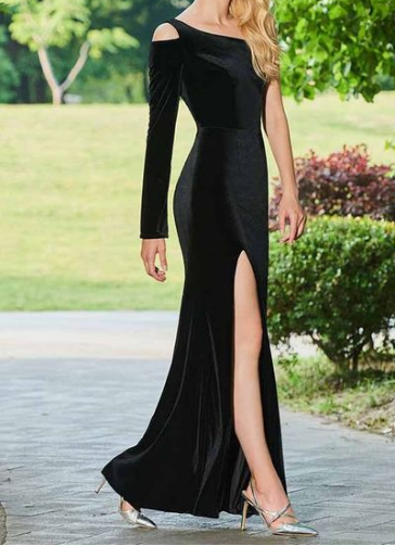 Sikedestiny V Neck ALine Evening Dresses Sequins Flowers Appliques Long Formal Evening Gowns Tencel Zipper Party Prom Gowns is part of Party Clothes Casual - UPS then you need to use this one too  if you have any question please contact me freely !