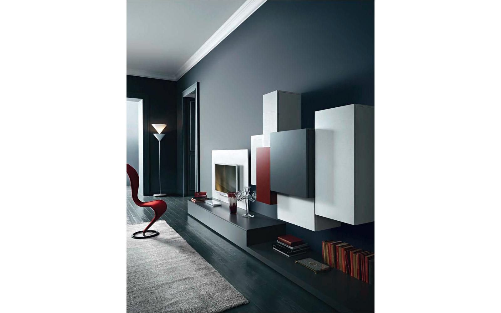 moderne designer tv wand tv lowboard im wohnzimmer. Black Bedroom Furniture Sets. Home Design Ideas