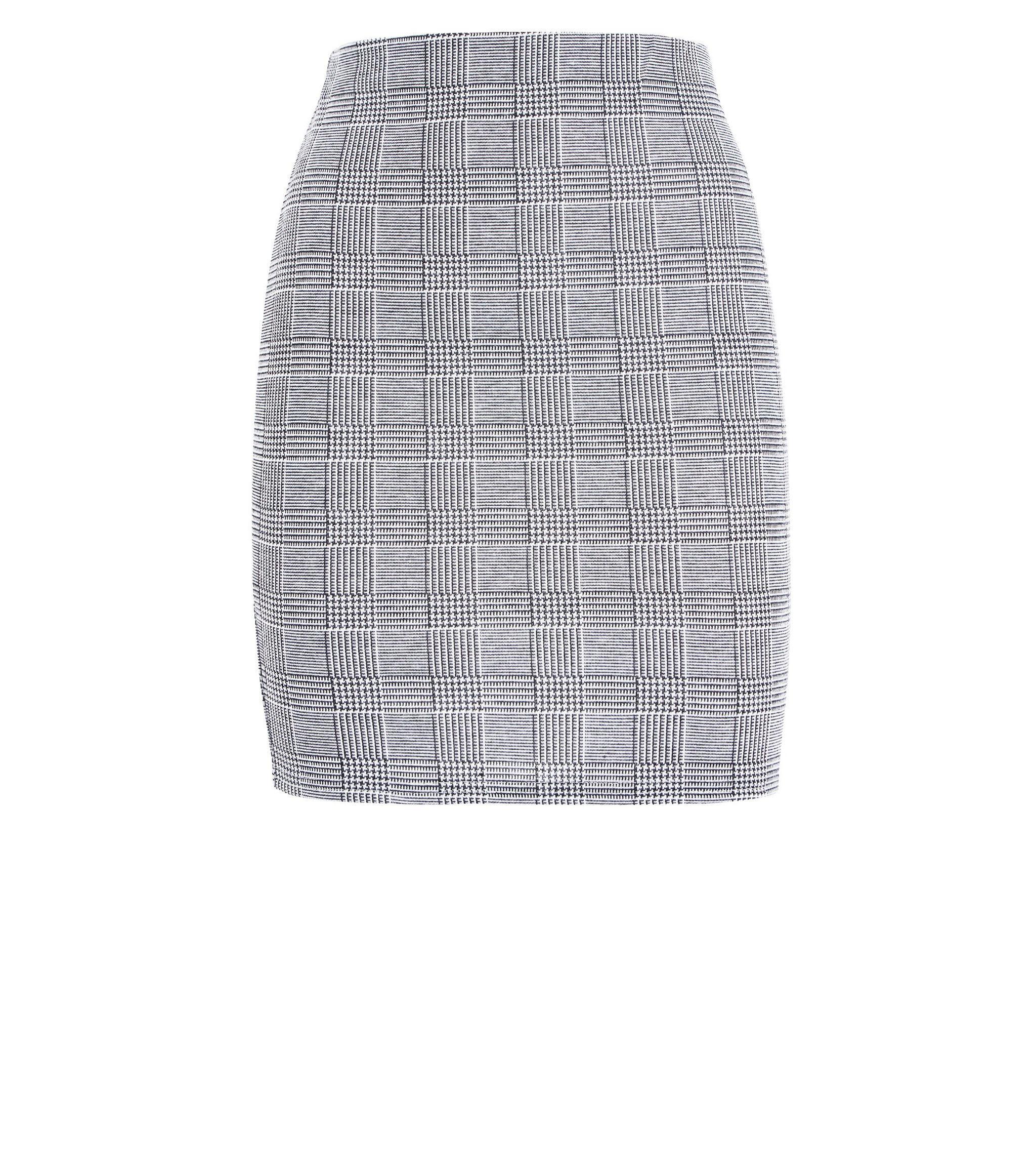 Teens Black Check Tube Skirt   New Look