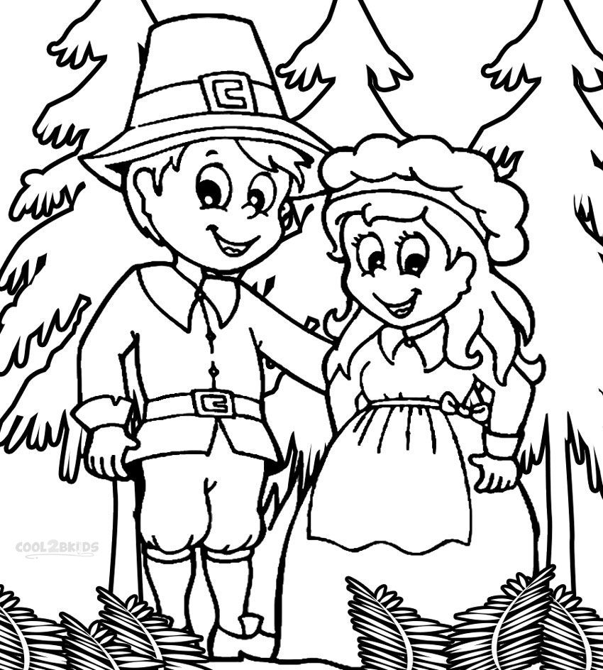 pilgrim couple coloring page | COLORING PAGES! <3 | Pinterest