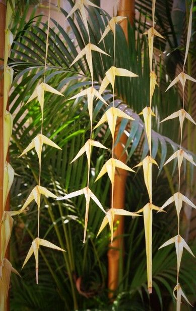 Coconut leaf decorations for the love of indian weddings for Artificial banana leaves decoration