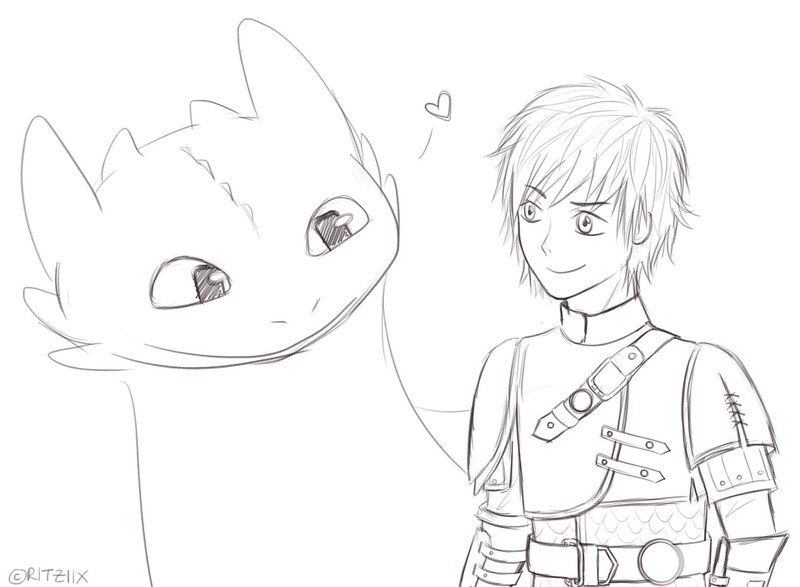 How to Train Your Dragon 2 - Hiccup and Toothless by ritziix ...
