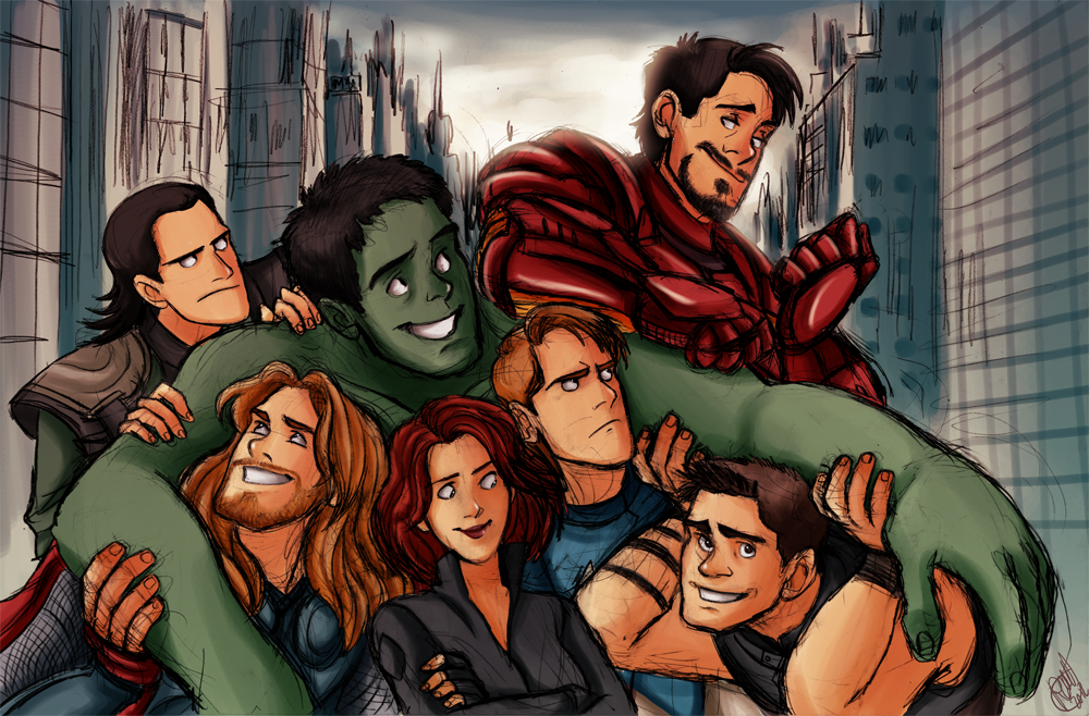 Everyone else is like well this is cool and fun, while both the Captain and Loki just glare at Iron Man cause they just know something is up...