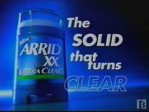 Arrid XX Ultra Clear Commercial 1997