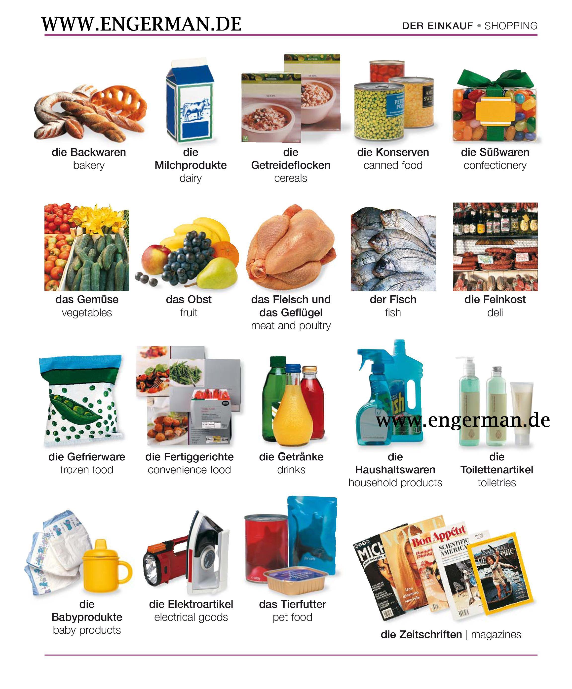 www.engerman.de | deutsch lernen, lebensmittel einkaufen