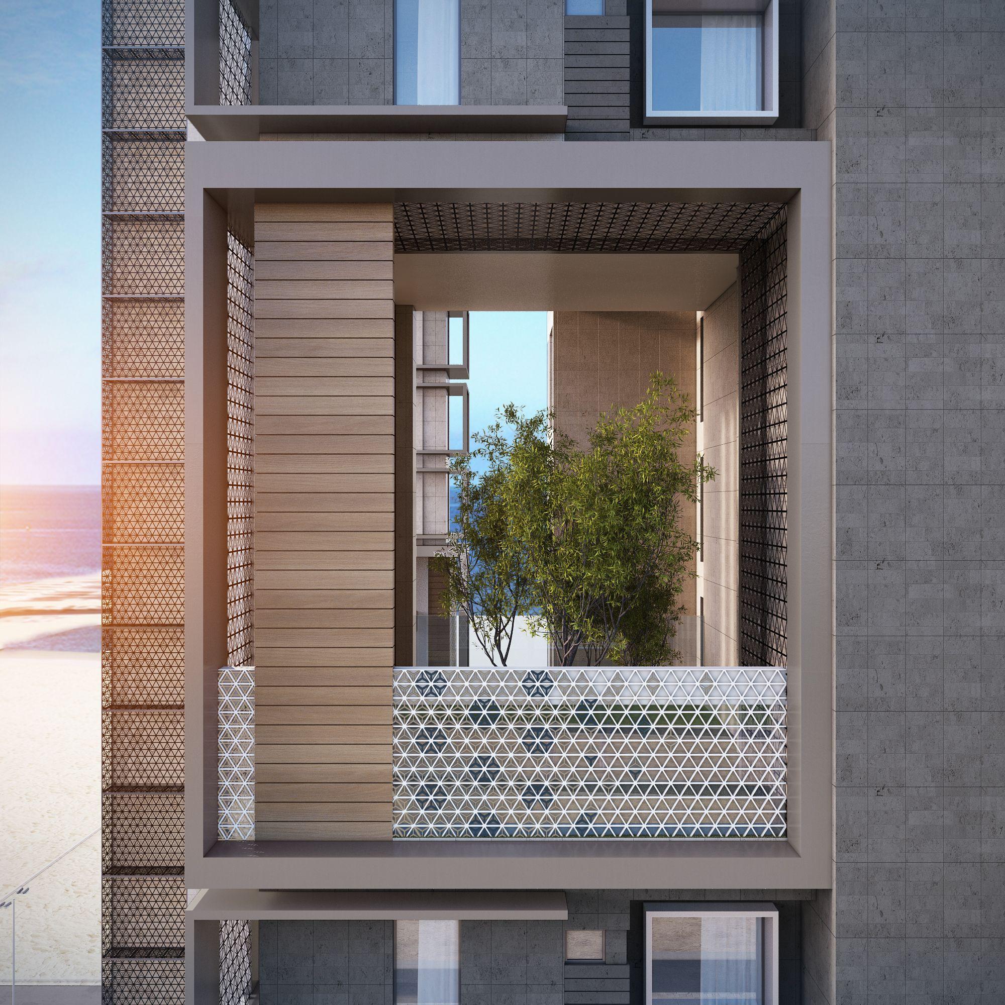 Hanging gardens apartments towers 3200 m plot kuwait