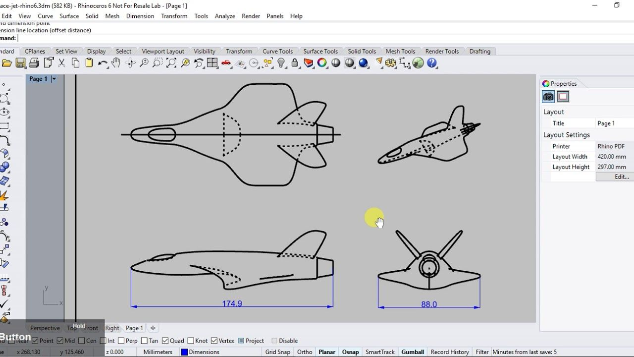 Rhino 6 Making 2d Drawings From 3d Model Drawing Book Pdf Technical Drawing Drawings