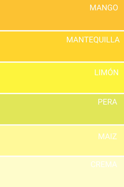Gama De Amarillos Esquema De Colores Colores Para Pintar Casas Colores Para Pintar Paredes