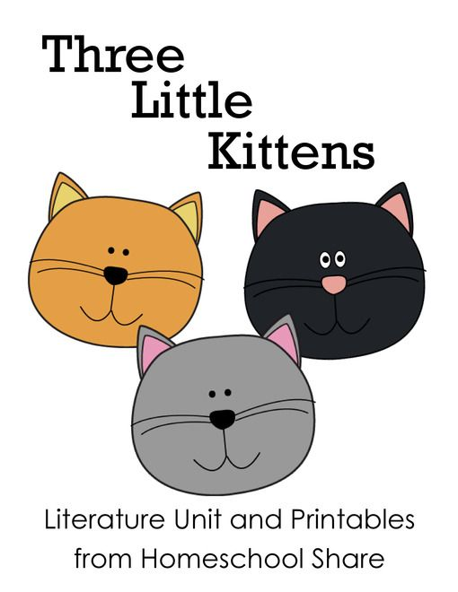 Free Three Little Kittens Unit Activities And Lapbook Printables From Homeschool Share Nursery Rhymes Preschool Nursery Rhymes Activities Little Kittens