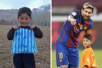 The Little Boy Who Made A Messi Jersey Out Of A Plastic Bag Finally Met His Hero