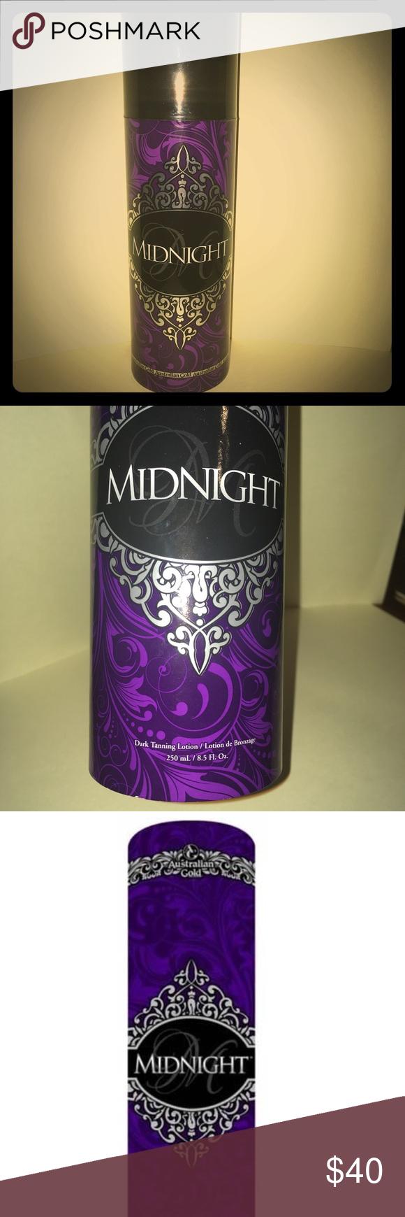 "Australian Gold ""Midnight"" Tanning Lotion 8.5 oz Highly"