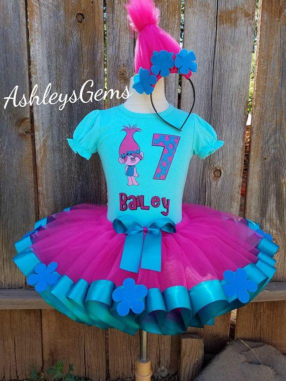 Poppy Trolls Birthday Outfit