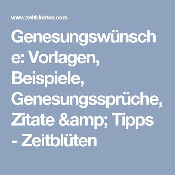 Genesungswünsche: Vorlagen, Beispiele, Genesungssprüche, Zitate ...