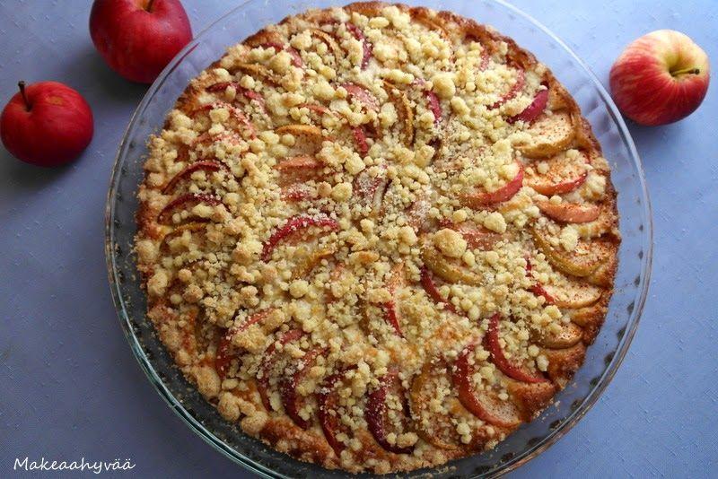 Makeaahyvää: Omena-murupiirakka