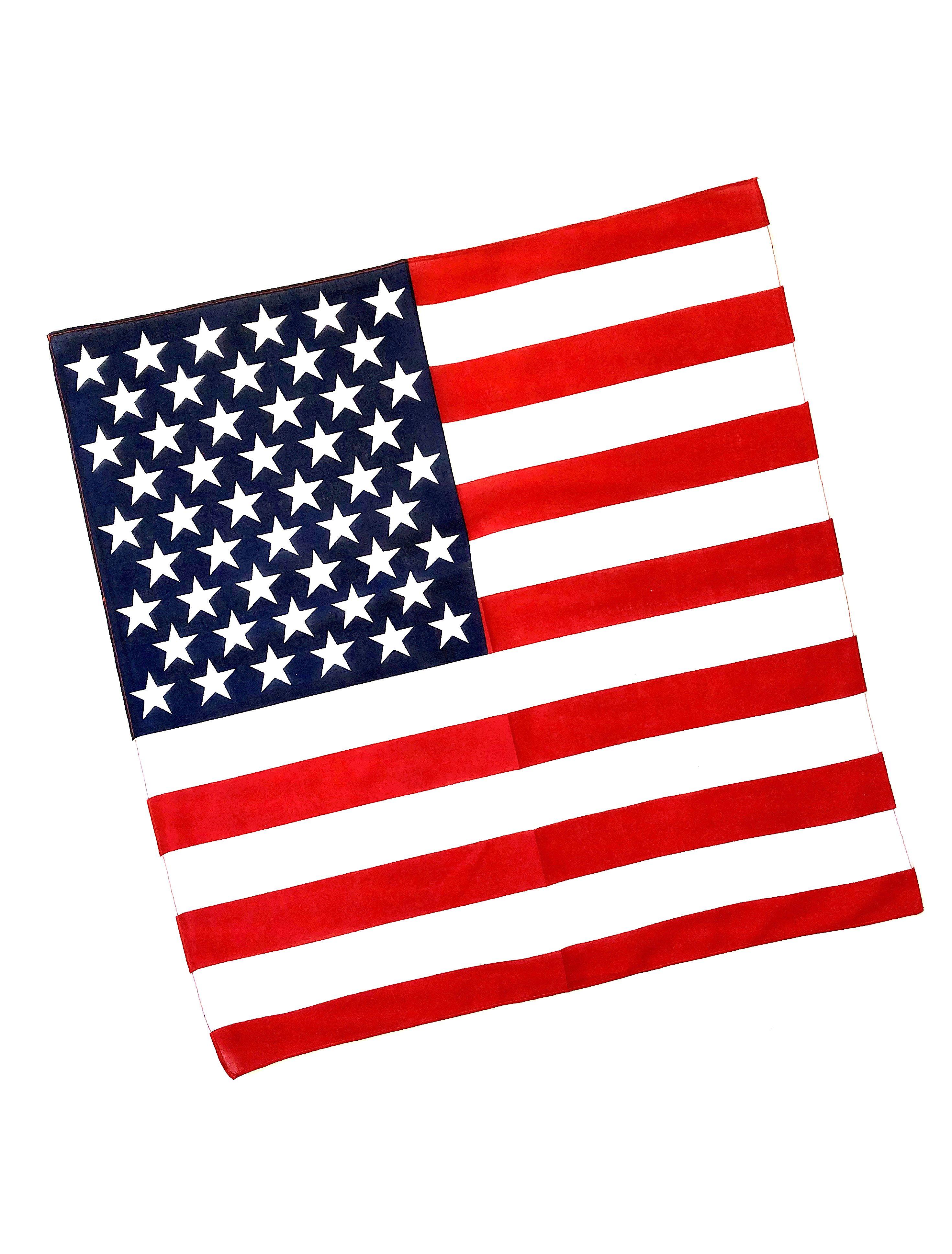 American Flag Bandana Picnic Fashion American Flag Bandana American Flag