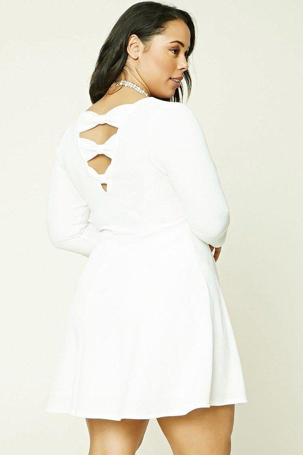 40cb273c74b0 FOREVER 21+ Plus Size Back Bow Dress Plus Size Skater Dress