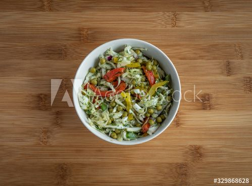 Vegeteable salad on wooden table, high resolution photo #Ad , #Ad, #wooden, #salad, #Vegeteable, #table, #photo