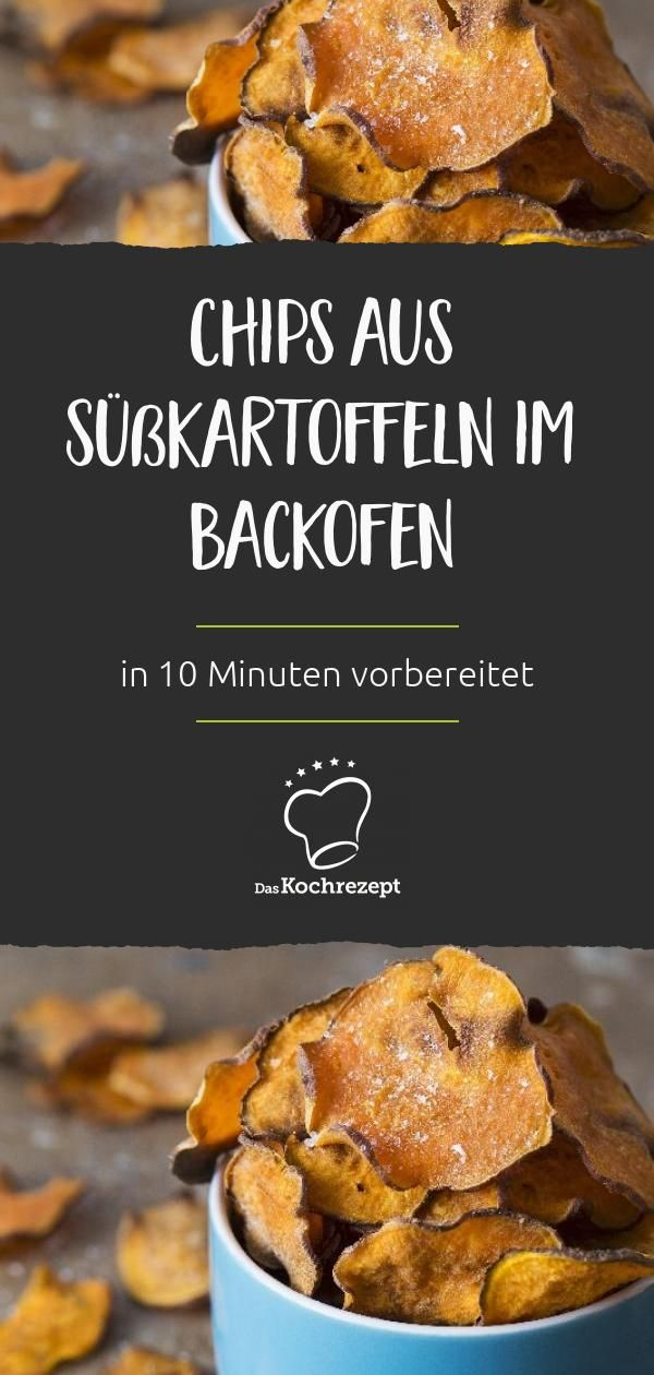 Chips aus Süßkartoffeln im Backofen  – Süßkartoffeln