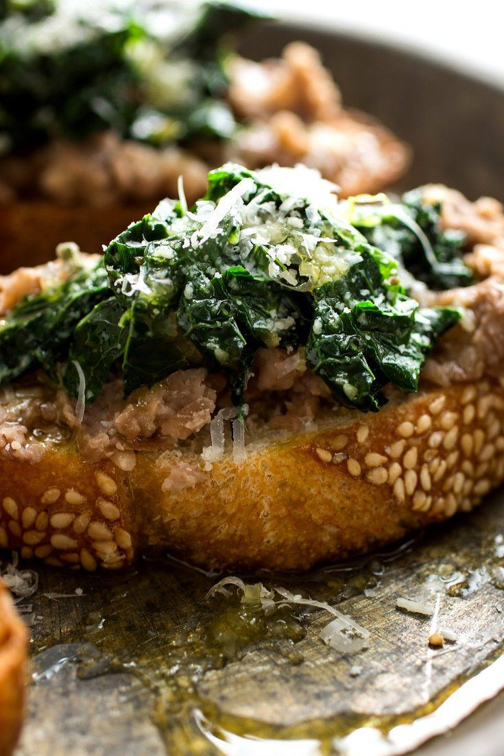 Bruschetta with smashed beans sage and kale recipe sage bruschetta with smashed beans sage and kale recipe sage parmesan and garlic forumfinder Choice Image