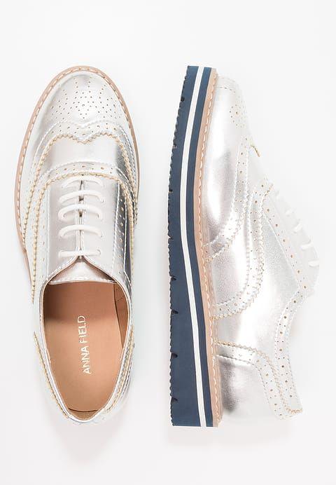 37baacbdf8d43 Chaussures Anna Field Derbies - silver argenté  39,95 € chez Zalando (au  19 11 17). Livraison et retours gratuits et service client gratuit au 0800  915 207.