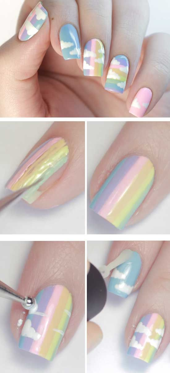 24 Easy Spring Nail Designs For Short Nails Pinterest