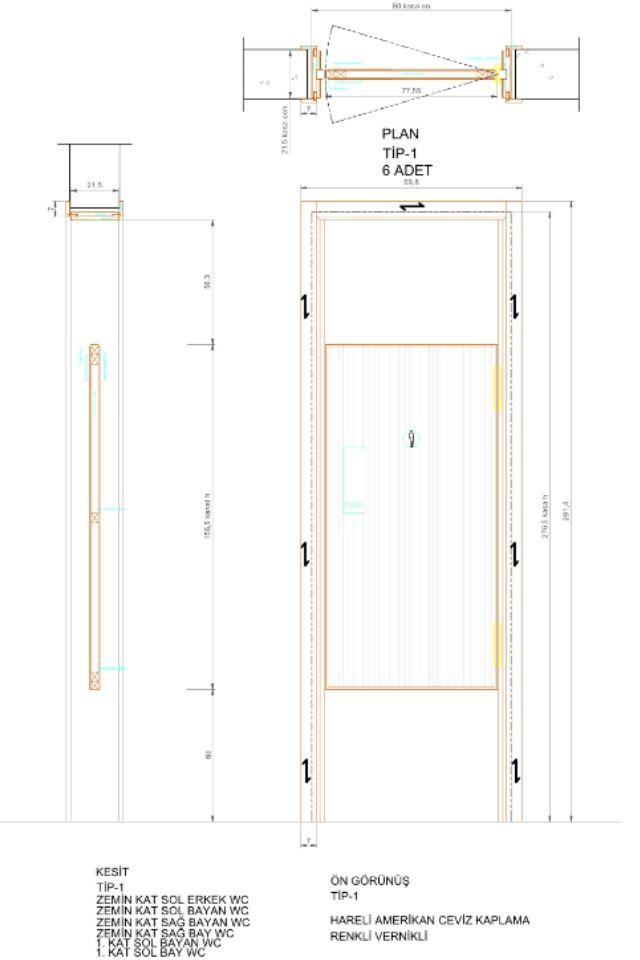 Door plan section \u0026 elevation