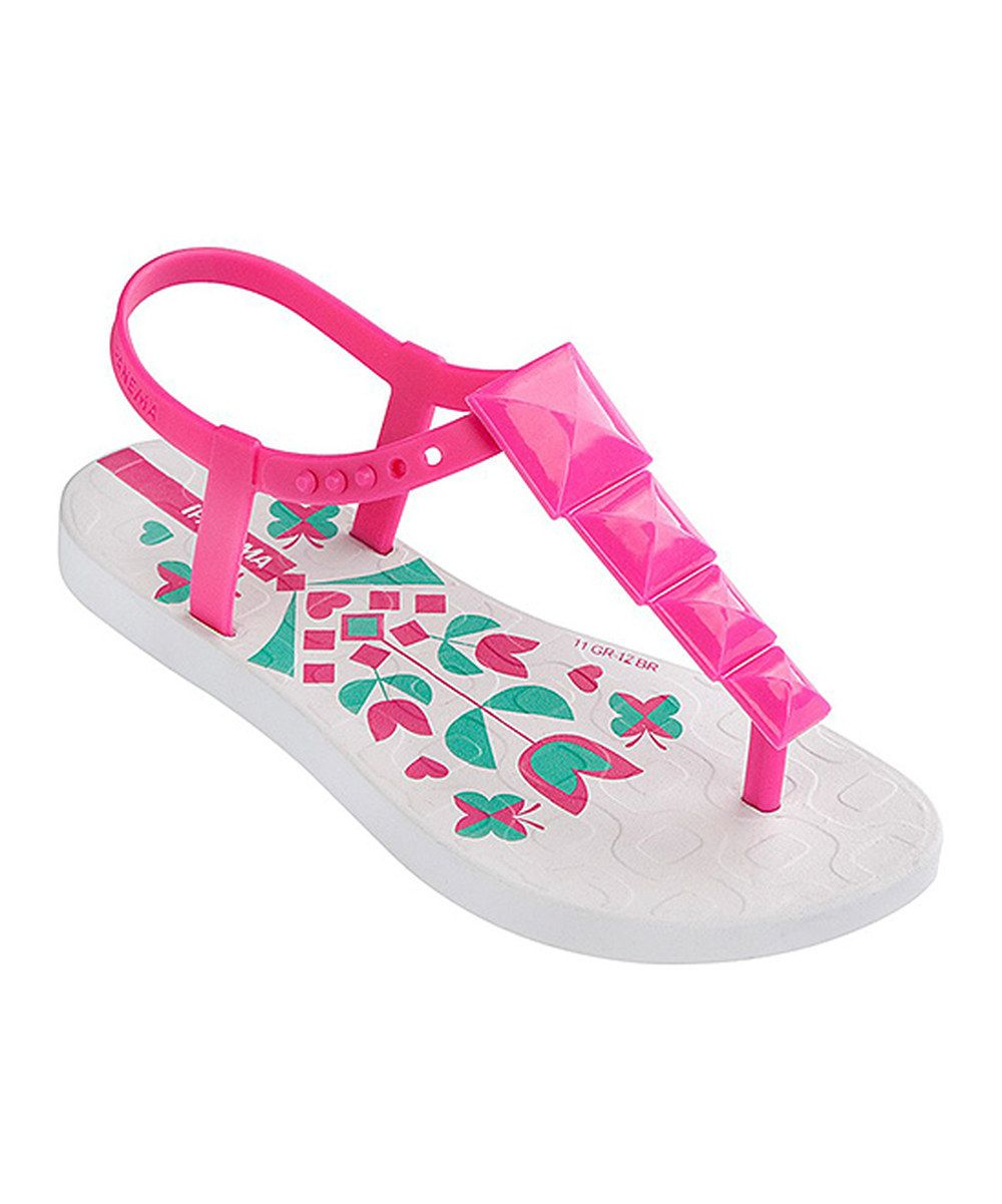 Look at this White & Pink Maya Sandal on #zulily today! | T