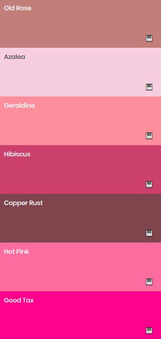 Shade Of Pink In 2020 Old Rose Color Palette Old Rose Color Pink Palette