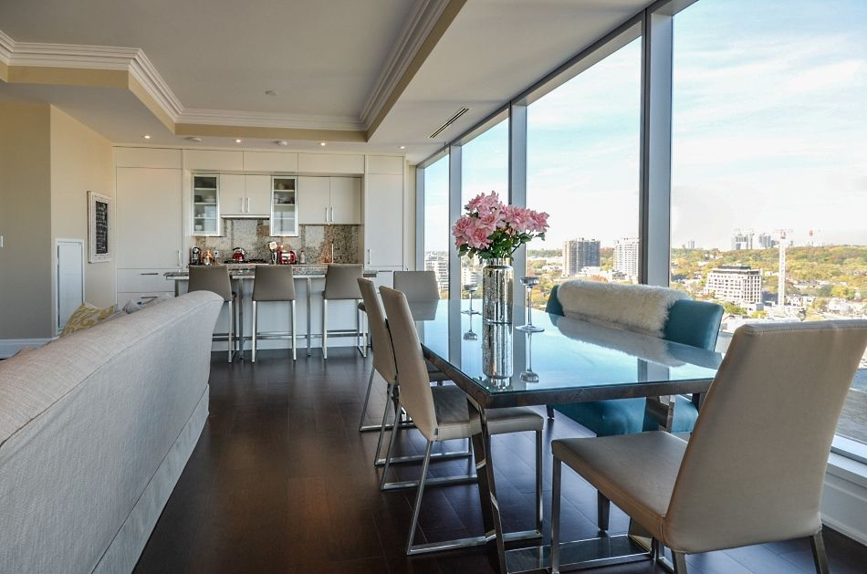 Four Seasons Private Residences Yorkville Toronto  Condos For Sale 55 Scollard St Apartment 1702 Dining Room Victoria Boscariol Chestnut Park Real Estate  ...