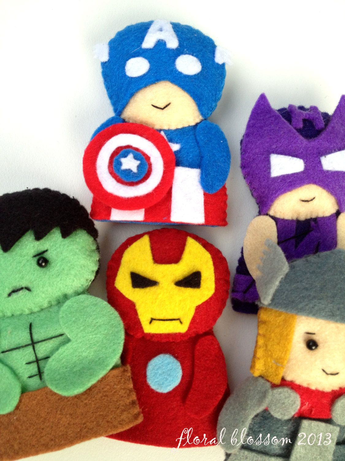 digital pattern: superheroes felt finger puppets | for the kiddos