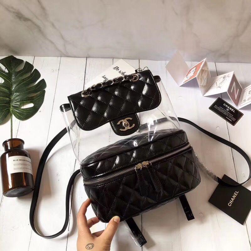 Chanel See Through Backpack Shoulders Bag Bags Chanel Backpack Chanel Handbags