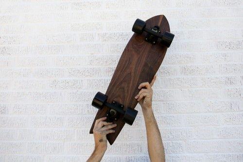 Oklahoma handmade walnut cruiser skateboard - Fat Girl Skinny Boy