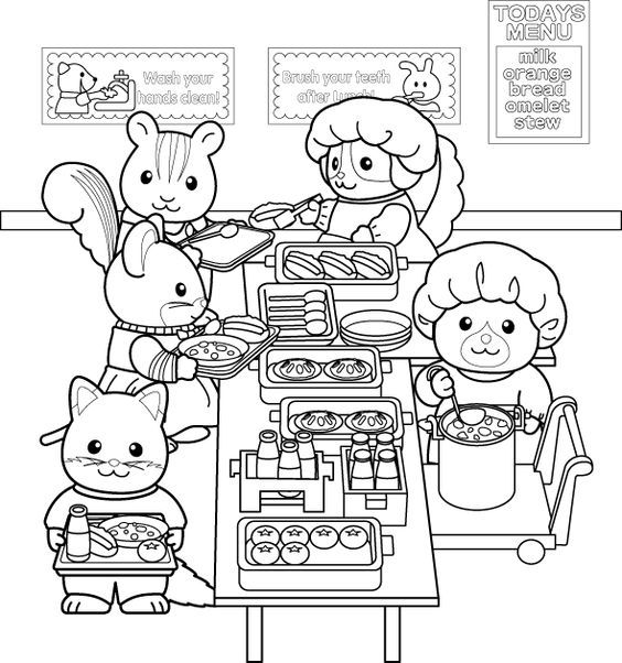 pin on calico critters coloring pages