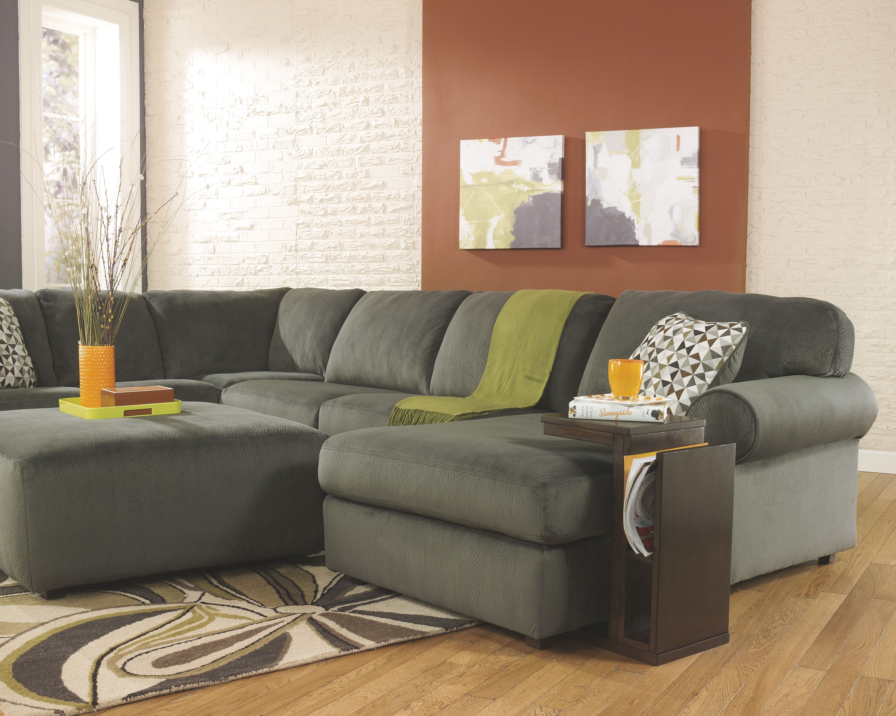 Enjoyable Jessa Place 3 Piece Sectional Pewter Products 3 Piece Gmtry Best Dining Table And Chair Ideas Images Gmtryco