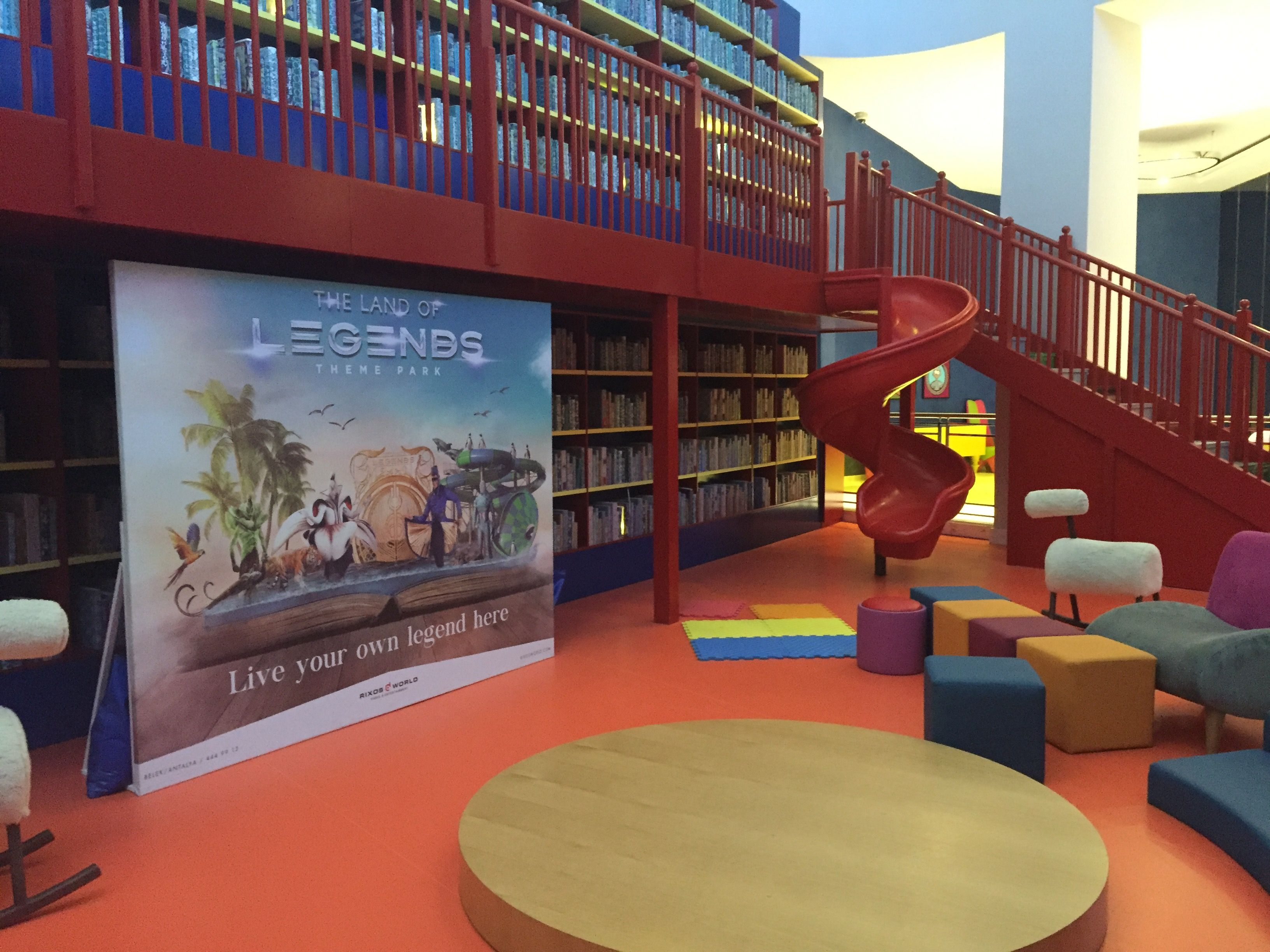 Rixos Land of Legends Belek Turkey 🇹🇷 #hotel #aquapark #Belek #Turkey #hoteldesign #kids #library