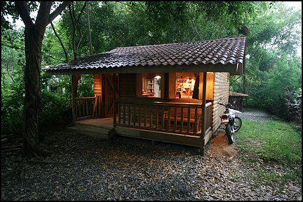 Wooden cabin for the rainforest