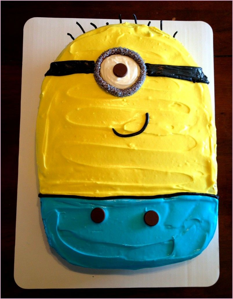 Minion Birthday Cake Walmart Party Ideas Pinterest