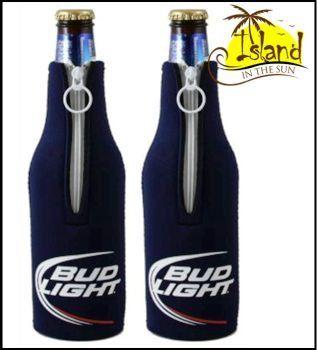 #(2) Bud Light Logo Beer Bottle Koozies Cooler $14.29