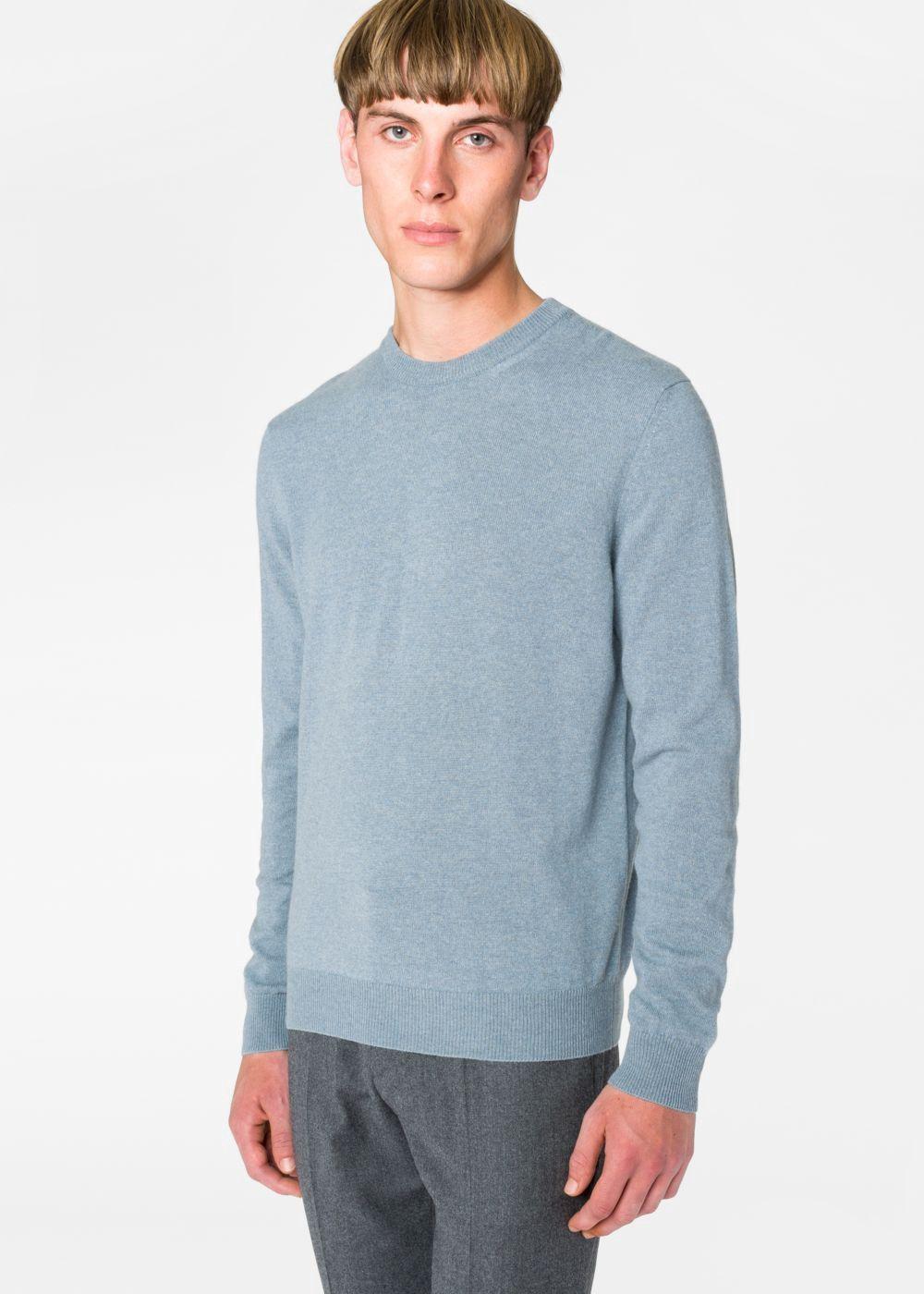 Paul Smith Men S Slate Blue Marl Cashmere Sweater Paulsmith Cloth Cashmere Sweater Men Sweaters Long Sleeve Tshirt Men [ 1400 x 1000 Pixel ]
