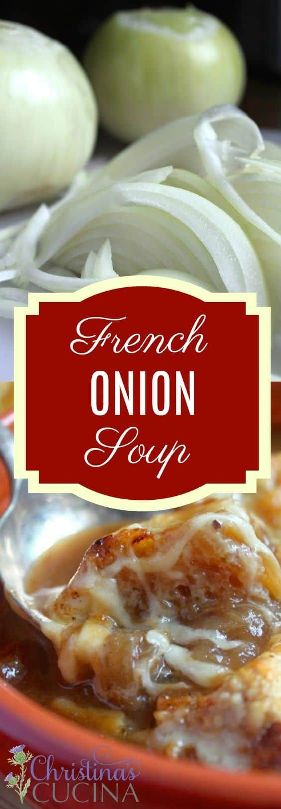 The French Onion Soup Julia Child Made Is A Classic Recipe But I Made One Tiny Change Which I Think Makes The Eating An In 2020 Recipes French Onion Soup French Onion