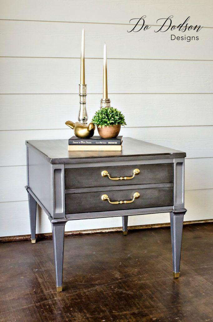 Charmant Wood Furniture Repair/ Metallic Pewter Finish