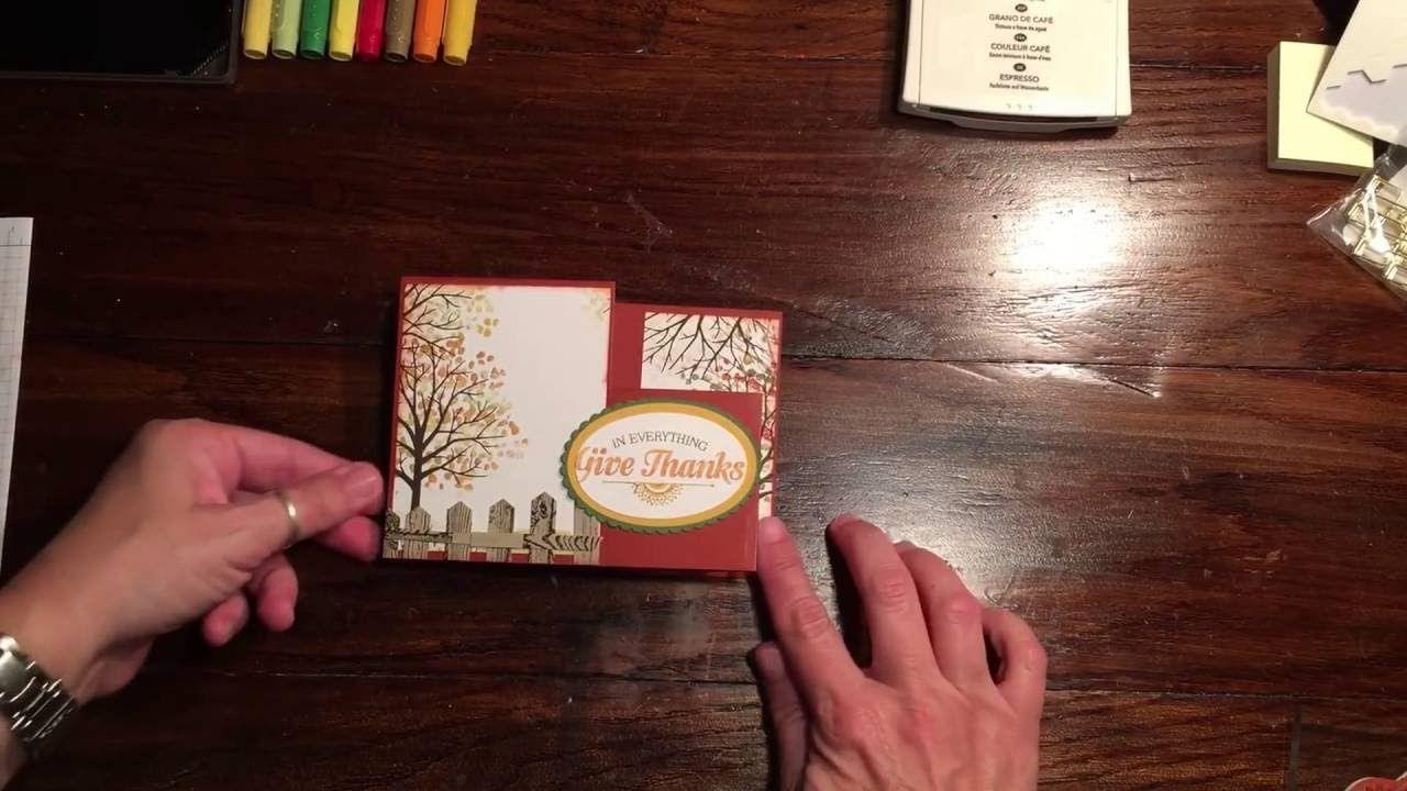 Thanksgiving Fun fold Blog Hop card, Stampin' Up!