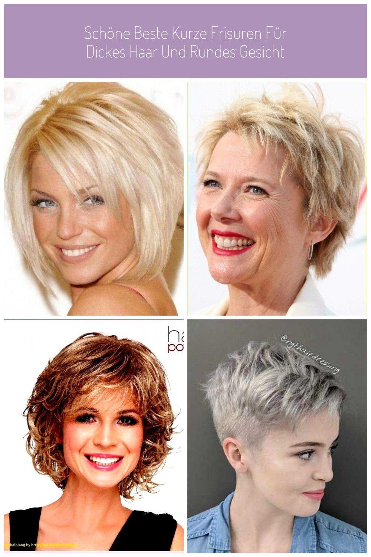Schone Beste Kurze Frisuren Fur Dickes Haar Und Rundes Gesicht