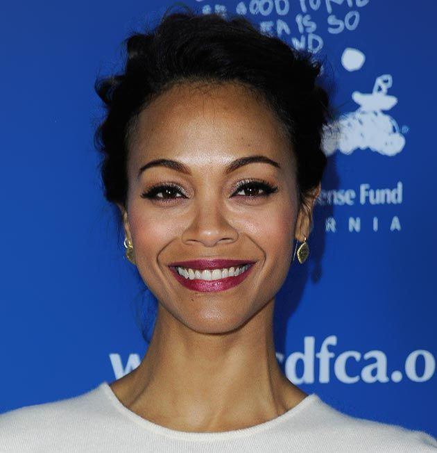 80 And More Updo Hairstyles For 2014: Zoe Saldana Updos  #updos #hairstyles #updohairstyles