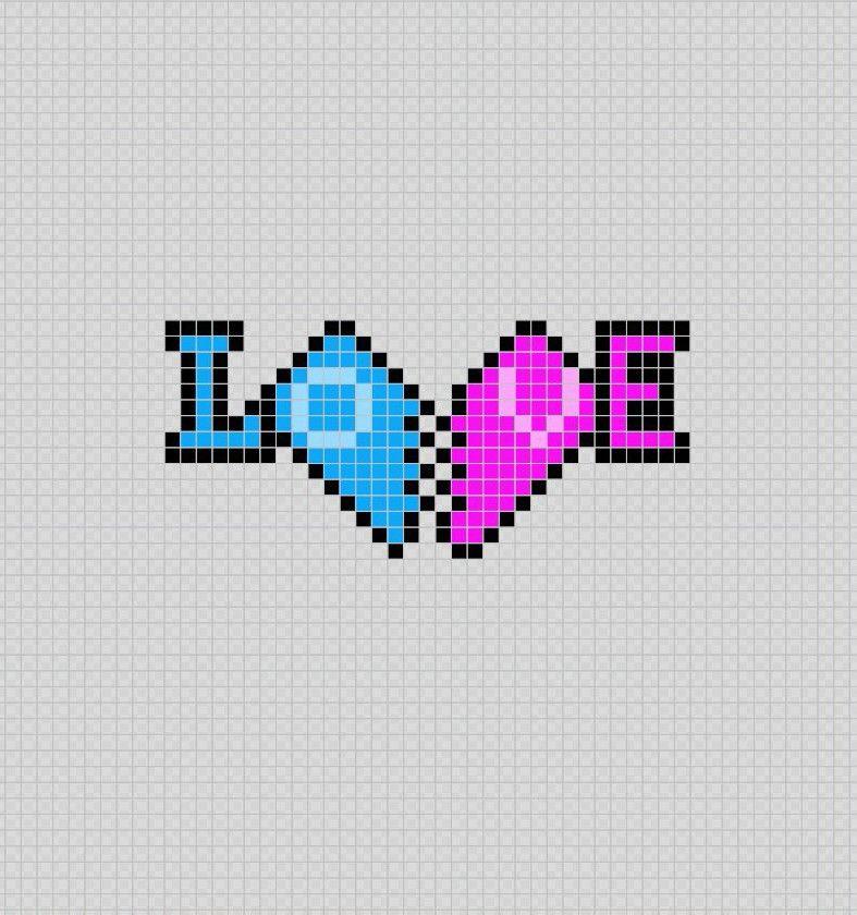 Love Corazones Pixel Art Patterns Dibujos En Cuadricula Puntos De Bordado Punto De Cruz