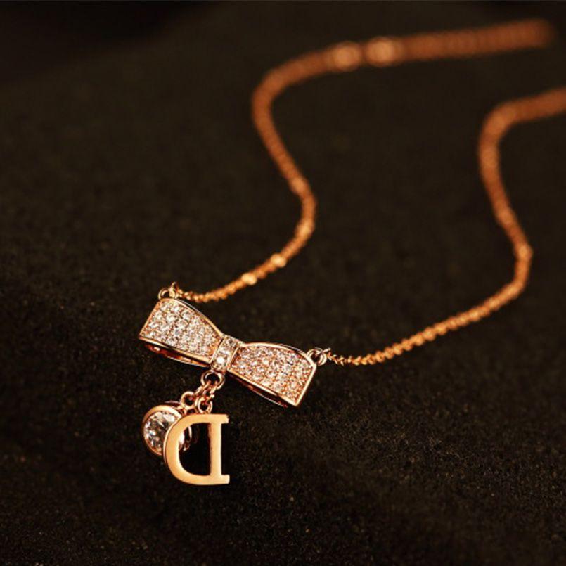 نتيجة بحث الصور عن رمزيات حرف D Girls Necklaces Pendant