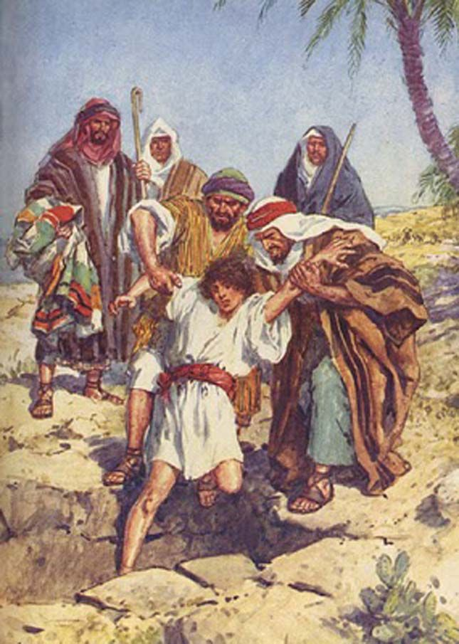 Joseph Being Sold Into Slavery By His Jealous Brothers