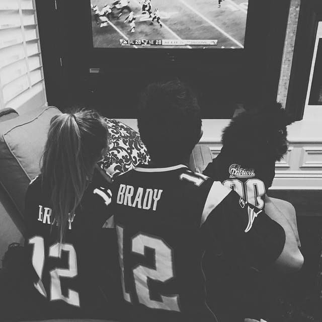 Sabrina Carpenter waiting TV with Bradley Steven Perry and a cute little dog.