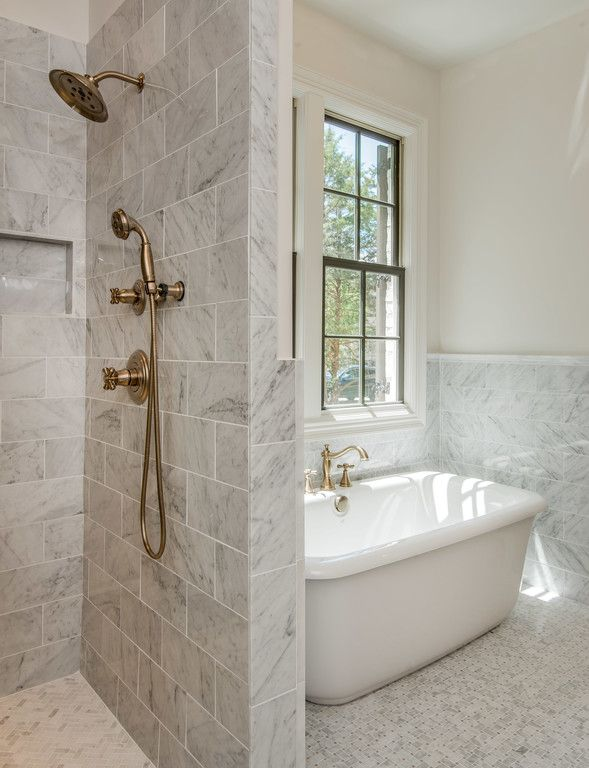 Replace Tub, Continue Tile Into Shower To Create One Large Space, Extend  Shower To